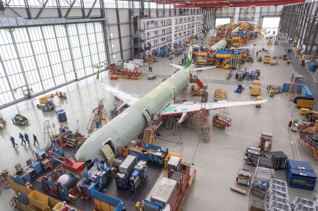 Final Assembly A320 Family in Hamburg